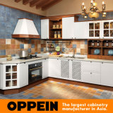 Nordic Rural Style Oppein L-Shape PP Kitchen Furniture (OP14-044)
