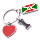 New Custom Metal Souvenir Burundi Keyring