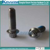 Knurled Flange Bolt Nylock Coating Special Cold Forging Metal Parts Ss 304 SS316