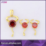Plated Silver Zircon Jewelry Fashion Jewelry Sets for Girls Daily Wear