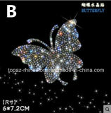 Crystal Sticker Self Adhesive Butterfly Czech Crystal Car Sticker 3D Car Accessories (TP-butterfly02)