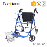 Health Care Product Wholesale Aluminium Walker/Rollator with Seat and Brake for Home Use