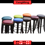 Tall Solid Wood Casino Chair Micro - Fiber Leather Ash Wood Roulette Casino Poker Table Dedicated Use Ym-Dk07