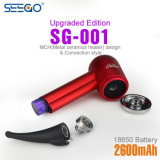 High Quality Smokeless Smoking Pipes Seego Sg-001 Electric E-Pipes