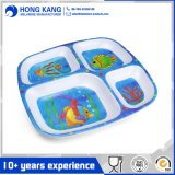 Non-Disposable Unicolor Dinner Plate Serving Food Tray