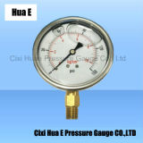75mm Vibration Proof Stainless Steel Pressure Meter