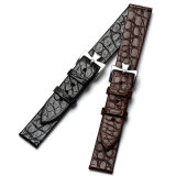 Alligator Grain Flat Watch Band Leather