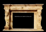 Marble Statuary Fireplace Mantel (L1-17)