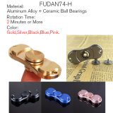 5 Color Aluminum alloy The 2 Leaf for Spinner Toy Hand Spinner and Metal gift box