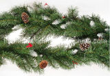 9′ Decorated Garland with Pine Cones
