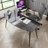 Home Furniture L-Shaped Corner Glass Computer Desk