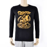 Men Long Sleeve Mixed Fabric Wholesale T-Shirt (XY120218)