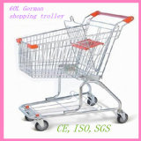 80L German Style Zinc-Coated Shopping Trolley