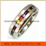 Fashion Jewelry with Multi Colors Stones Finger Ring
