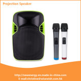 "Outdoor 12"" LED Projection Loudspeaker with Battery"