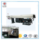 3.2m Length New Popular PLC Control Oil Film Automatic Bar Feeder with CNC Lathe Machine