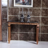 Wholesale Marble Top Console Table with Stainless Steel Legs
