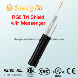 RG6 Tri-Shield with Messenger 75 Ohms Coaxial Cable