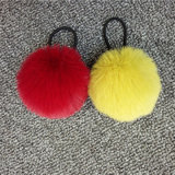 Faux Fur Pompom Fur Keychain Rabbit Fur Ball