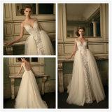 2017 off-Shoulder Three-Quarters Overskirt Sweep Train Mermaid Wedding Dress (Dream-100043)
