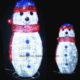 Little Size Snowman Motif Light for Outside or Indoor Christmas Decoration