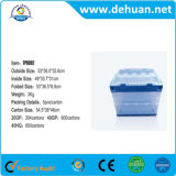 Multi Purpose Durable Transparent Folding Stackable Plastic Storage Box