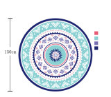 (BC-RT14839) 100% Cotton Round Beach Towel