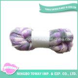 Dyed Acrylic Soft Tape Knitting Wool Fancy Yarn