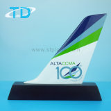 Airplane Tail Model Resin Craft for Business Gift