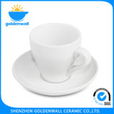 Simple White Porcelain Coffee Cup and Saucer