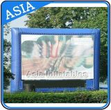 blue Color Inflatable Movie Screen for Advertising / Inflatable Advertising Billboard