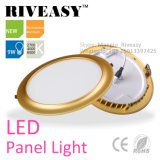 Electroplated Aluminum Round 9W Gold LED Panel Light