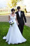 Sleeveless Lace Bodice Layered Tulle Spring Wedding Dress Ya109