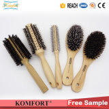Fsc Wood Boar Bristle Detangling Hair Brushes Wholesale (JMFH-122)