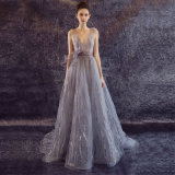 Sexy Lace Tulle Sleeveless Party Evening Dress
