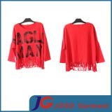 Trendy Red Long Sleeves T Shirt Crew Tee Clothes (JS9020)