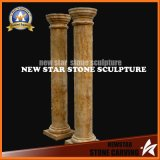 Gold Desert Travertine Marble Carving Pillars for Indoor/Outdoor.