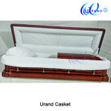 High Gloss White Velvet Wholesale Chinese Mahogany Coffin and Casket