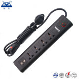 Multifunctional Black Universal 10A Power Strip Extension Socket Surge Protector