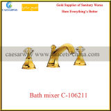 Sanitary Ware Golden Bathroom 3 Way Recessed Bathtub&Basin Mixer