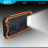 Waterproof Silicone Flashlight Solar 10000mAh Power Bank (NP-005)