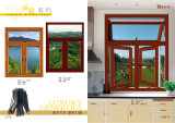 Aluminum Tilt and Turn Window with Built-in Shutters Fx15148