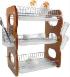 Kitchenware Metal Wire Dish Drainer Rack 3 Layers