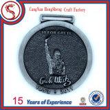 Inexpensive Custom Metal Running Medal Trophy