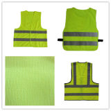 Polyester Traffic Vest with Yellow Reflective Strip