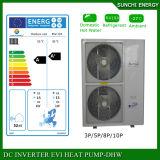 Sweden -25c Winter Floor Heating 100~350sq Meter Room 12kw/19kw/35kw Auto-Defrost Evi DC Split Heat Pump Water Heater