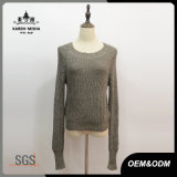 Women Green Long Sleeve Leisere Knitted Sweater