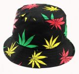 Bucket Hat with Maple Leaf Printed Logo