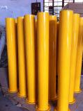 Yellow Powder Coated Metal Bollards