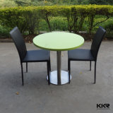 Man Made Stone Round Solid Surface Coffee Table and Chair